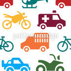 Hot Wheels Seamless Vector Pattern Design