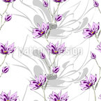 Magnolia Blossoms Seamless Vector Pattern Design