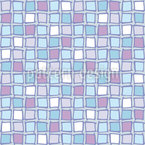 Mosaic Glass Tiles Seamless Vector Pattern Design
