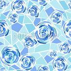 Rosen Mosaik Nahtloses Vektormuster
