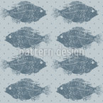 Fresh-Water Fish Seamless Vector Pattern Design