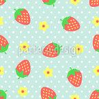 Erdbeer Eisbecher Nahtloses Vektormuster
