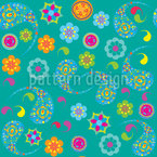 Paisley Bloom Design de padrão vetorial sem costura