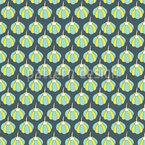 Kürbis oder Ballon Nahtloses Vektor Muster