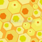 Retro Honigwaben Nahtloses Vektormuster