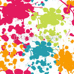 Spray Paint Splashes Seamless Vector Pattern Design