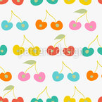 Cherry Variations Seamless Vector Pattern Design