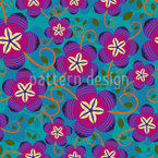 Funky Flowers Seamless Vector Pattern Design