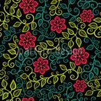 Sternblumen Garten Nahtloses Vektormuster