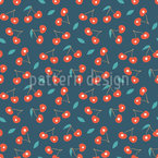 Night Cherry Repeating Pattern