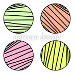 Striped Circles Seamless Vector Pattern Design