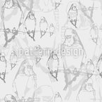 Budgie Dream Seamless Pattern