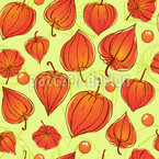Physalis Seamless Vector Pattern