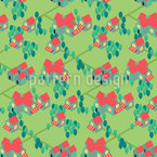 Cartoon Suburbia Vector Pattern