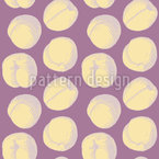 Apricots Seamless Vector Pattern Design