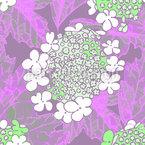 Fleur de Viburnum Motif Vectoriel Sans Couture