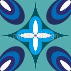 地中海花 シームレスなベクトルパターン設計