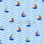 Tiny Sails Seamless Vector Pattern Design
