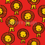 Lions Seamless Vector Pattern Design