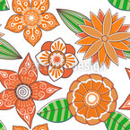 Summer Bloom Seamless Vector Pattern Design