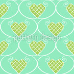 Gingerbread Hearts Seamless Vector Pattern Design
