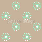 Delicate Meadow Flowers Seamless Vector Pattern Design