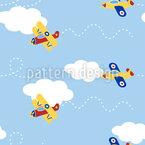 In Flight Seamless Vector Pattern Design