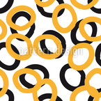 Curly Circles Seamless Vector Pattern