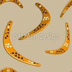 Dancing boomerangs Seamless Vector Pattern Design