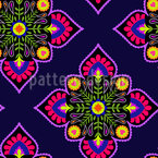 Folklore To The Square Seamless Vector Pattern Design