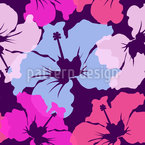 Hibiscus Awakening Seamless Vector Pattern Design