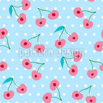 Sweet Cherries Seamless Vector Pattern Design