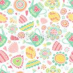 Gardening Society Seamless Vector Pattern Design