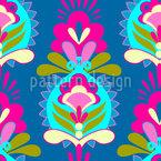 Blumen Grüsse Rapportiertes Design
