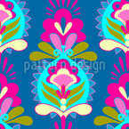 Flower Greetings Seamless Vector Pattern Design