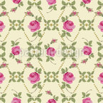 Vintage Roses Repeating Pattern