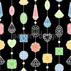 Jewelry Curtain Seamless Vector Pattern Design