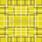 Asian Lattice Yellow Design Pattern