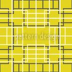 Asiático Celosía Amarillo Estampado Vectorial Sin Costura