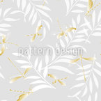 Golden Dragonflies Seamless Vector Pattern Design