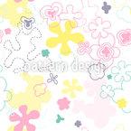 Dream Flower Garden Seamless Vector Pattern Design