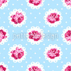 Vintage Rose Seamless Vector Pattern Design