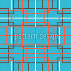 Asian Lattice Turquoise Vector Ornament