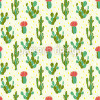 Desert Cactus Seamless Vector Pattern Design