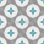 Flower Wave Seamless Vector Pattern Design