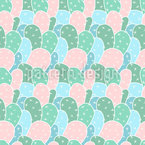 Cacti Everywhere Seamless Vector Pattern Design
