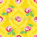 Nostalgic Roses Seamless Vector Pattern Design