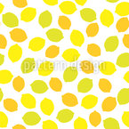 Citrus Refreshment Seamless Vector Pattern Design