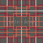 Asian Lattice Seamless Pattern