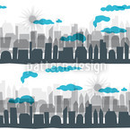 Skyline Estampado Vectorial Sin Costura